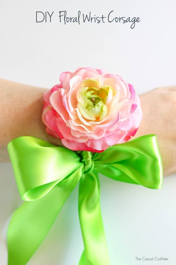 Diy floral wrist corsage diy floral wrist corsage handmade silk flower and ribbon wrist corsage perfect for special events mightylinksfo