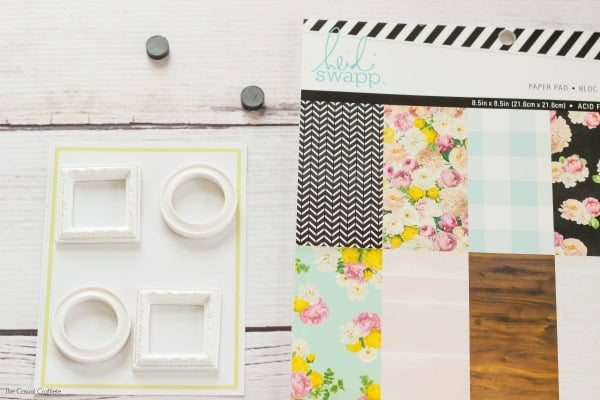 diy mini frame magnets create these fun and functional magnets using scrapbook paper and mini - Mini Picture Frame