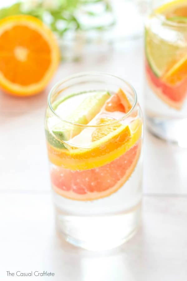 Sparkling Citrus Coconut Water by TheCasualCraftlete.com