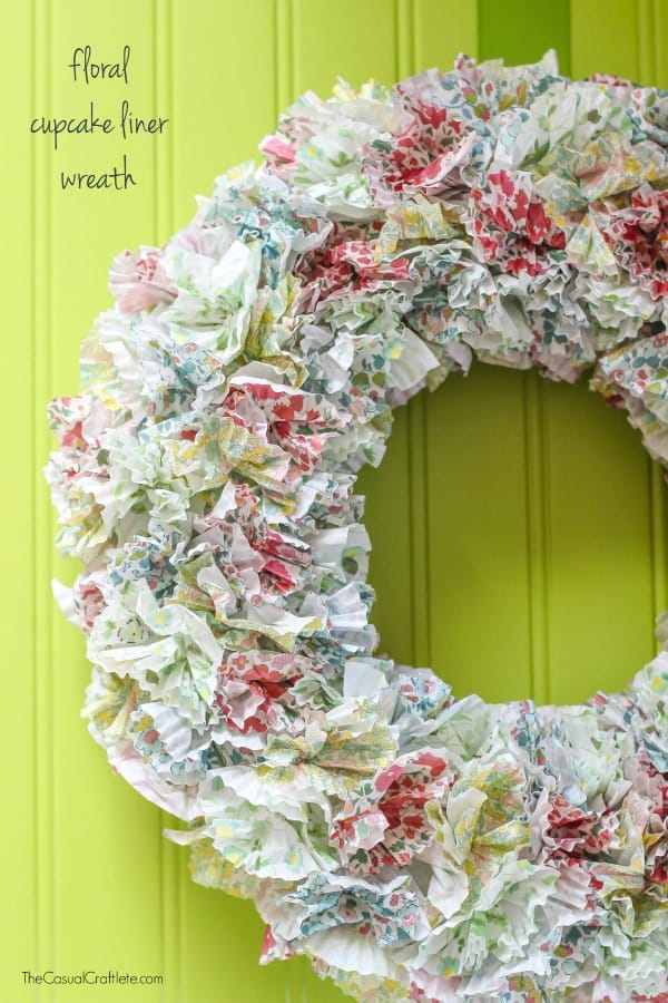 Floral Cupcake Liner Wreath