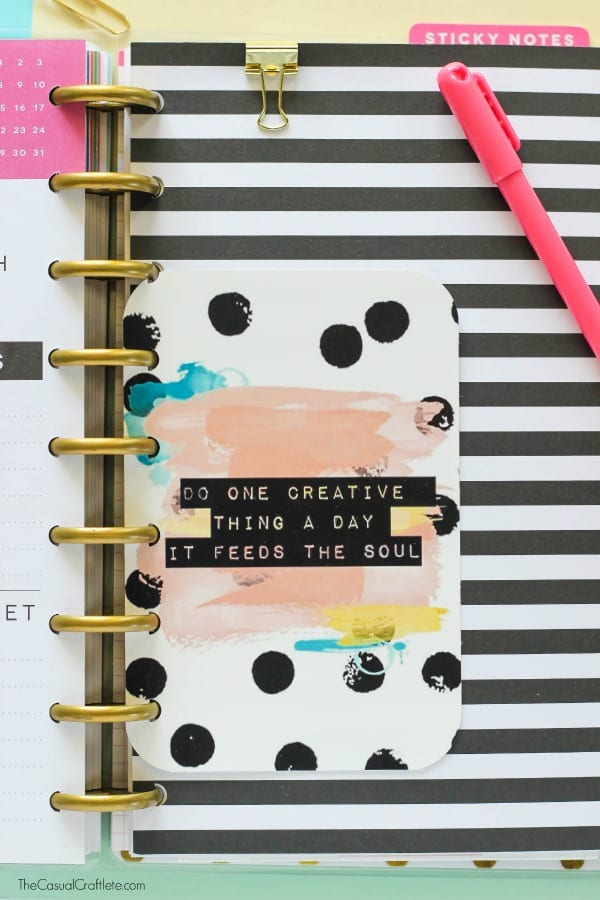 Free Printable Planner Quote - a beautiful handmade inspirational quote for personalizing planners.