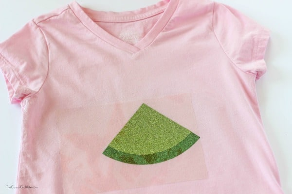 Multi Layer Iron On Vinyl Watermelon Shirt - create an adorable watermelon shirt perfect for summer by layering iron on vinyl. SO easy and cute!