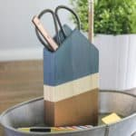 featured image - Metallic and Wood Pencil Holder