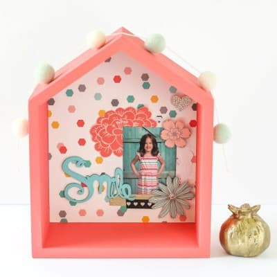 School Picture House Shadow Box