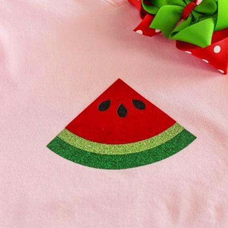 Multi Layer Iron On Vinyl Watermelon Shirt