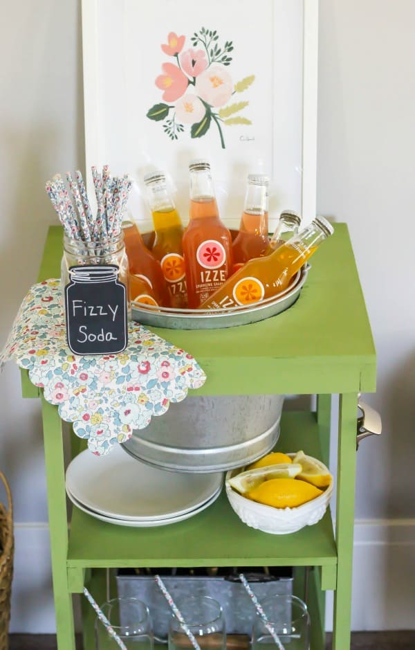 The Home Depot's #DIHWorkshop Virtual Party. With summer in full swing, and parties to celebrate, this beverage station is perfect!