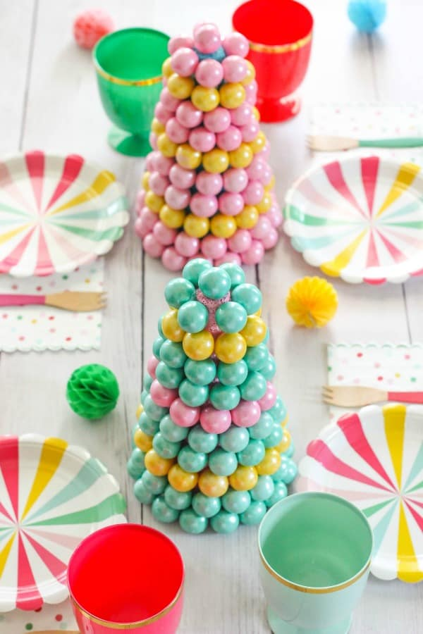 It's A Party - Gumball Centerpiece - Create a whimsical centerpiece using candy gumballs and foam cones. Perfect for parties and holidays!