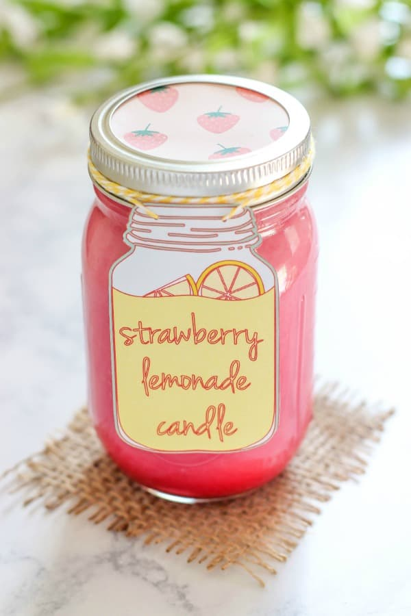 Homemade Strawberry Lemonade Candle