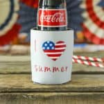 I Heart Summer Koozie Cricut Project by TheCasualCraftlete.com