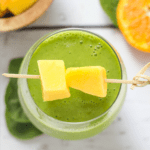 featured image - mango orange green smoothie