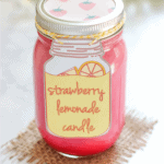 featured image - strawberry lemonade candle