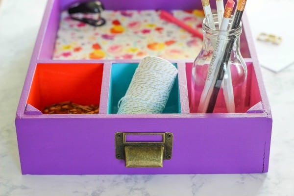Create A Colorful Drawer Desk Organizer That Is Perfect For Storing And Organizing Office Back