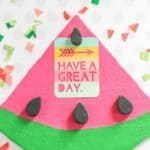 featured image - watermelon memo board
