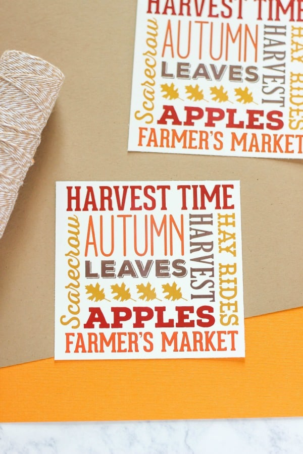 Create some cute Fall Harvest Subway Art Treat Bags to celebrate the new season. These DIY bags are great for fall parties at school, home, or church.