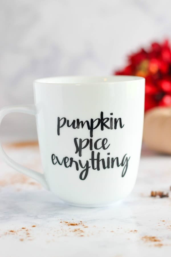 Pumpkin Spice Everything Vinyl Coffee Mug