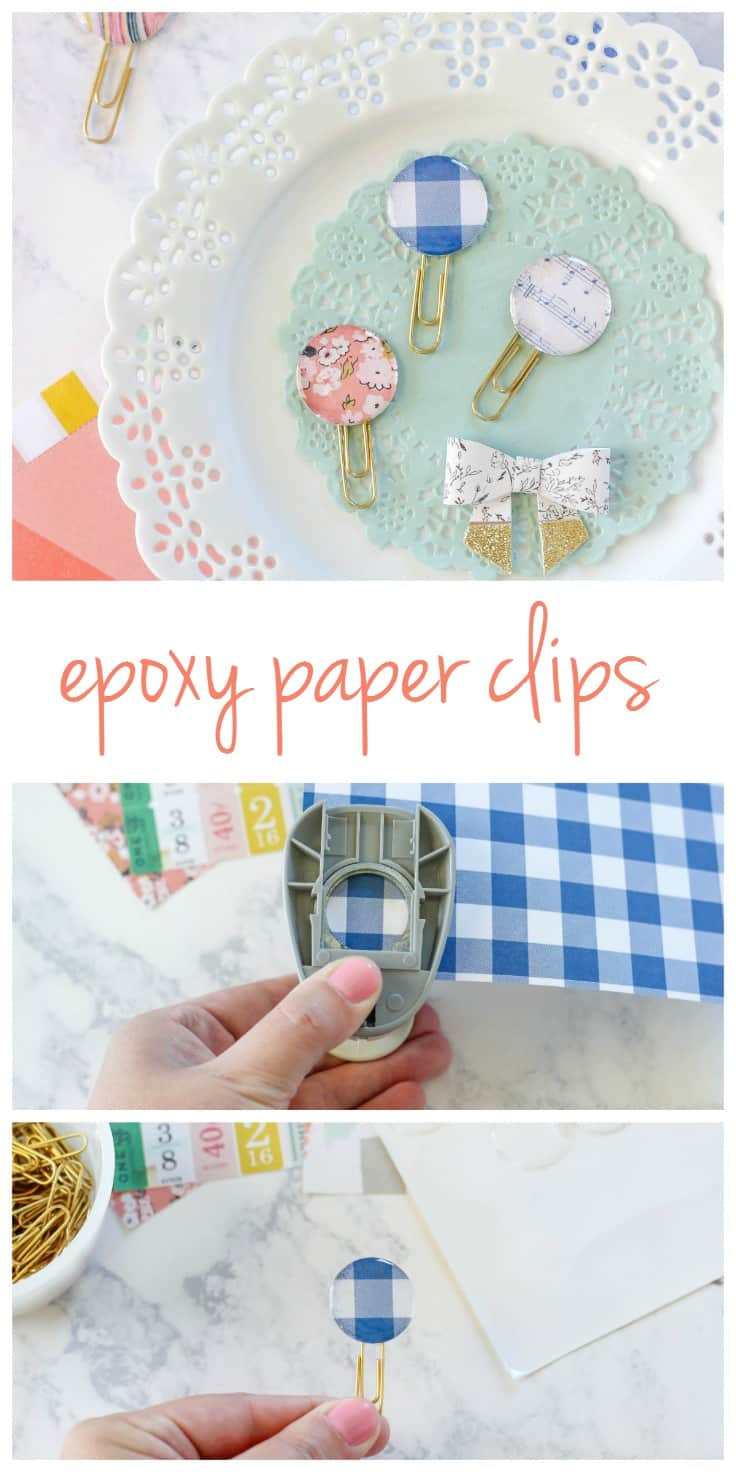 DIY Epoxy Paper Clips are easy and inexpensive to make. These paper clips are great for using as bookmarks, scrapbooking, gift wrapping, and more!
