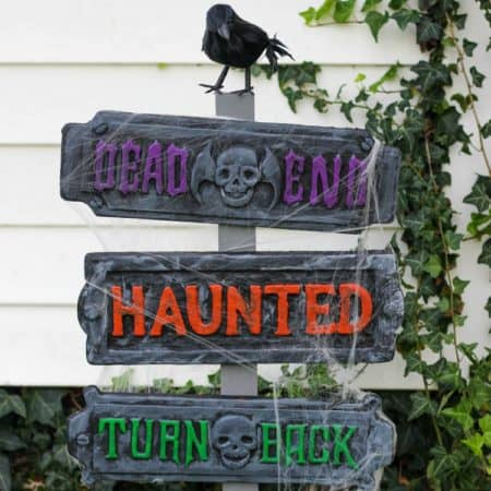 Haunted Halloween Signs