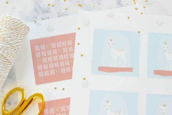 Add some of these Free Printable Whimsical Holiday Gift Tags to any gift for a cute wrapped gift.
