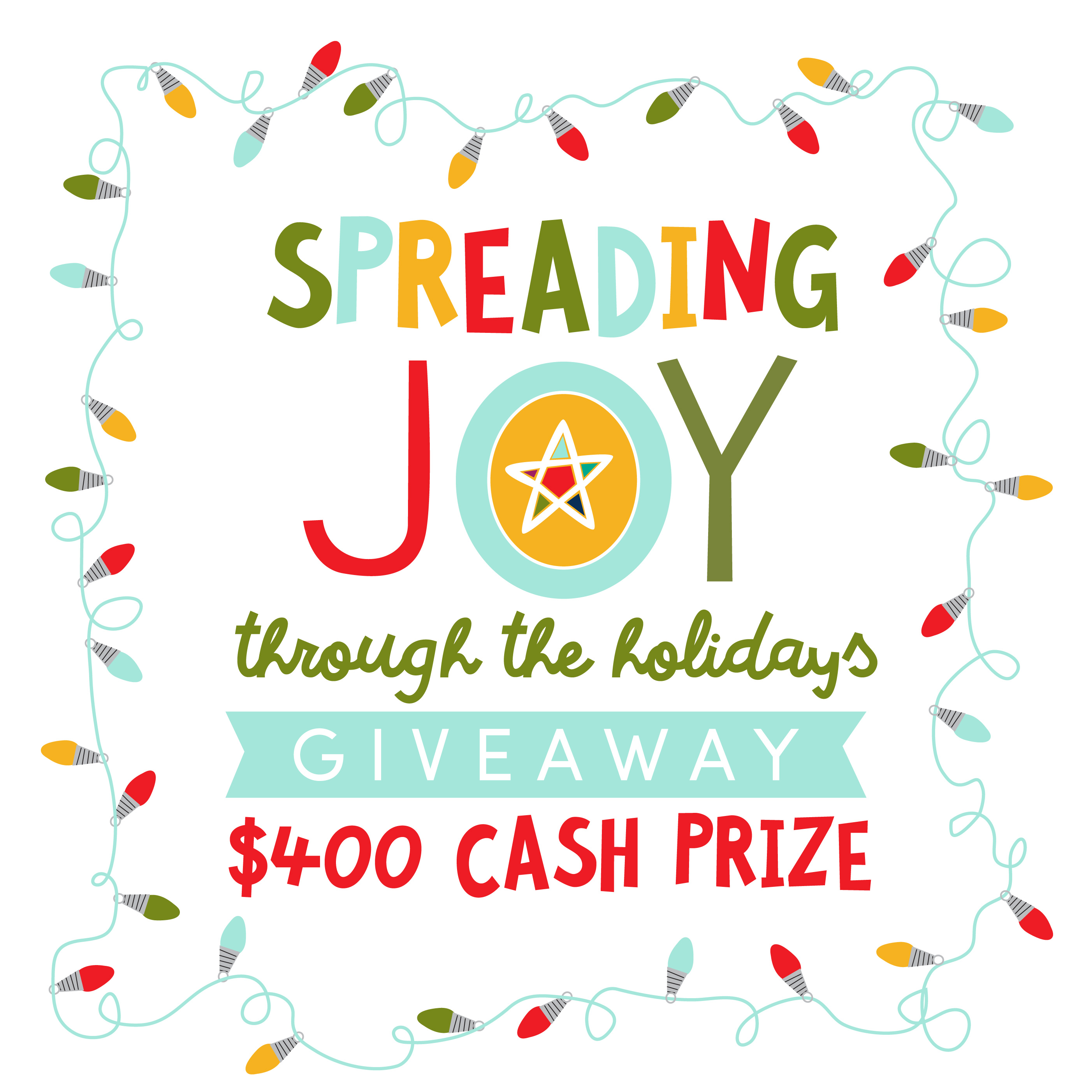 We are Spreading Joy Through The Holidays with a $400 Cash Prize Giveaway just in time for Cyber Monday.