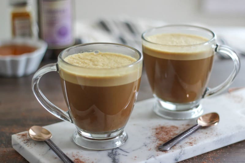 Start the new year with a healthier mug of frothy Turmeric Hot Chocolate. Loaded with immune boosting spices and flavored with dark chocolate cocoa.