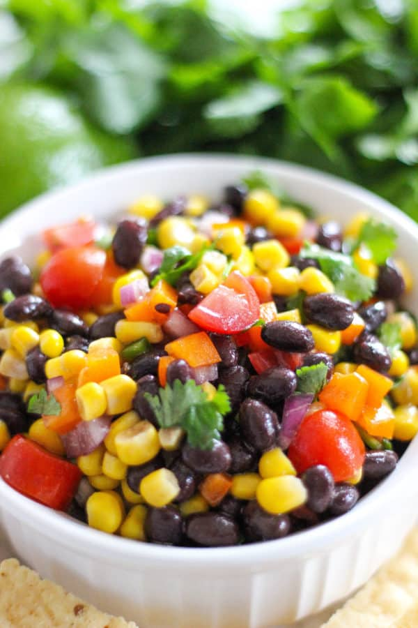 Black Bean and Corn Dip is a fresh and easy dish to put together. This healthy dip can be scooped with chips or add for a refreshing, crunchy topping.