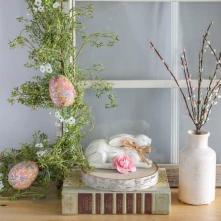 DIY Decoupage Easter Egg Garland