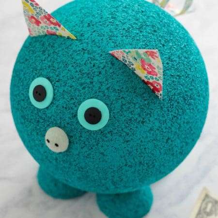 Foam Piggy Bank Learning Activity