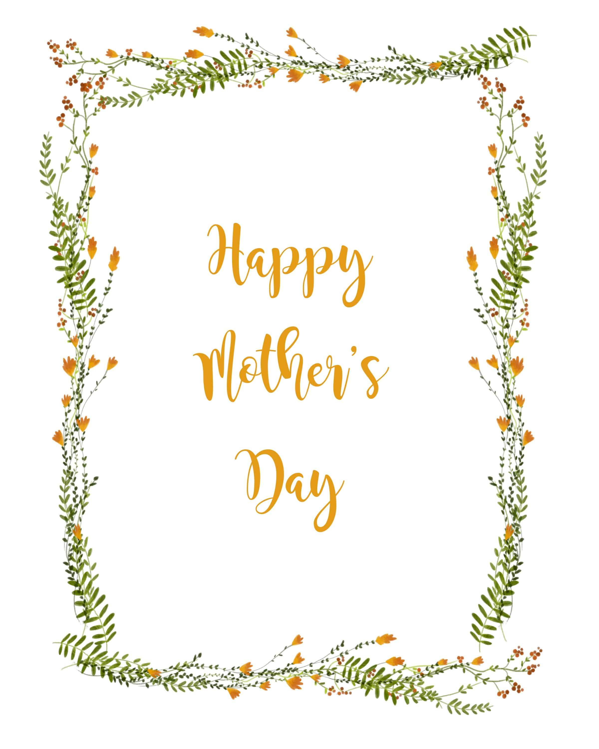 Happy Mother's Day Printable Card