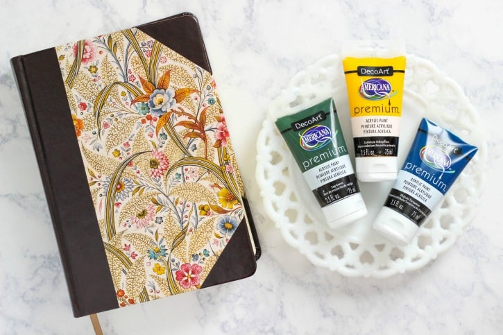 How to start a Bible Journaling Page using Americana Premium Acrylics for beginners with a step by step tutorial and list of supplies.