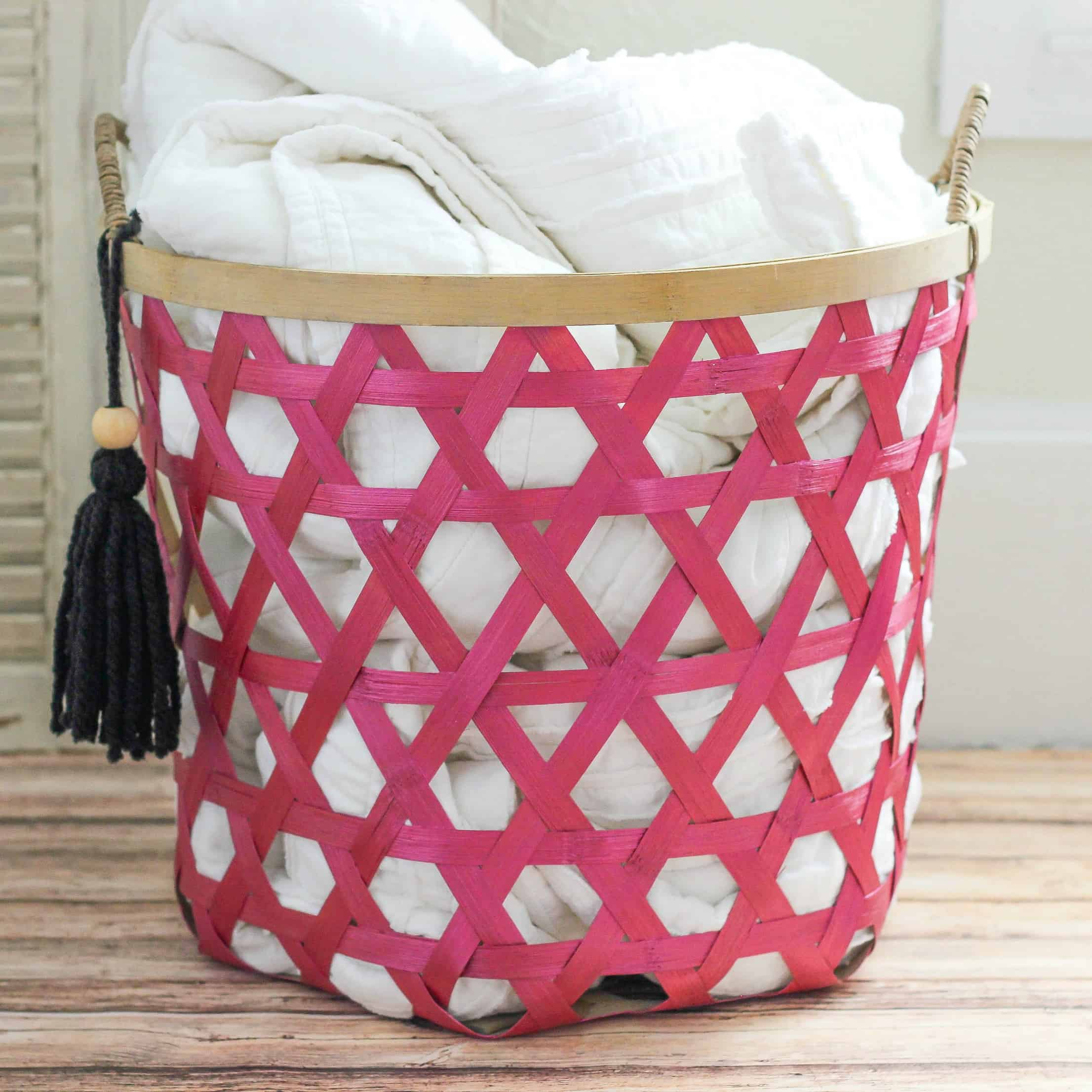 DIY Metallic Boho Basket