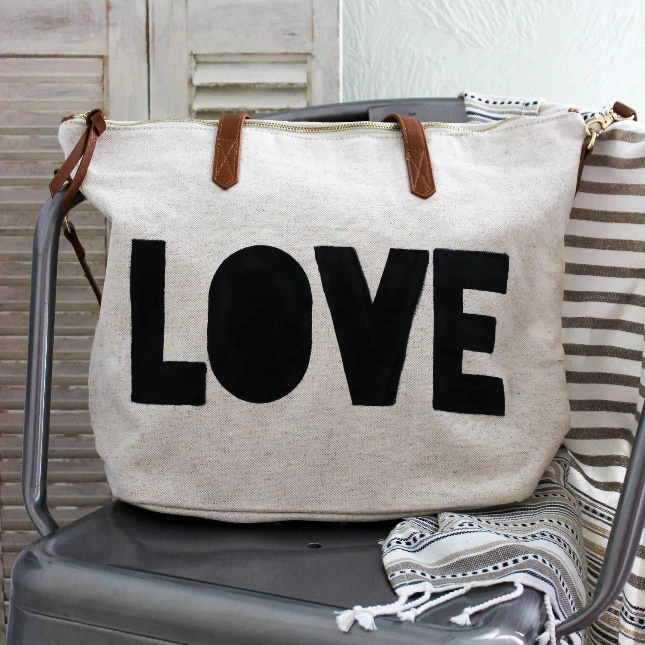 DIY Painted Graphic Tote Bag
