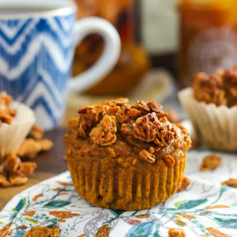 Pumpkin Granola Muffins with Maple Pumpkin Butter