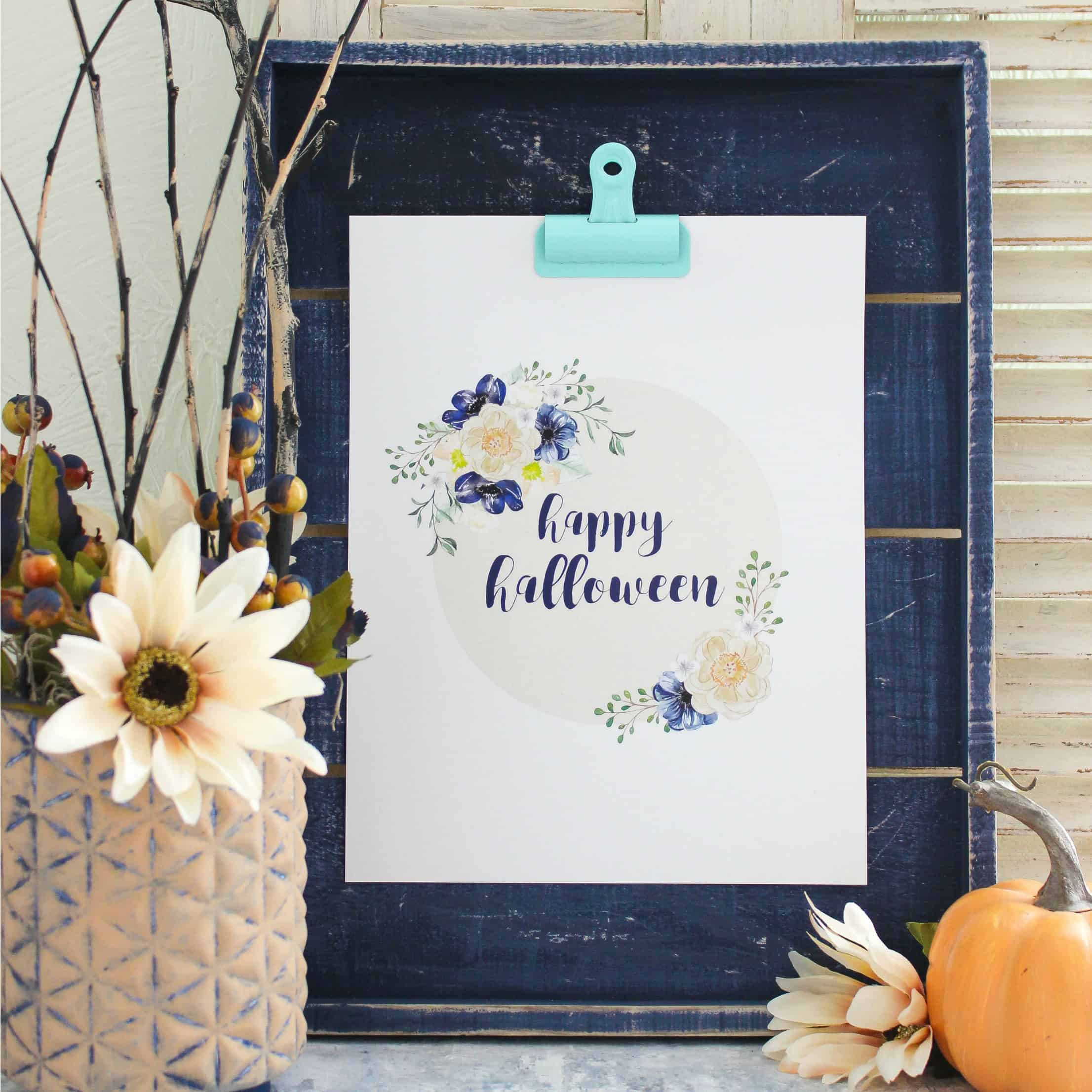 Neutral Halloween Decor Plus Free Printable