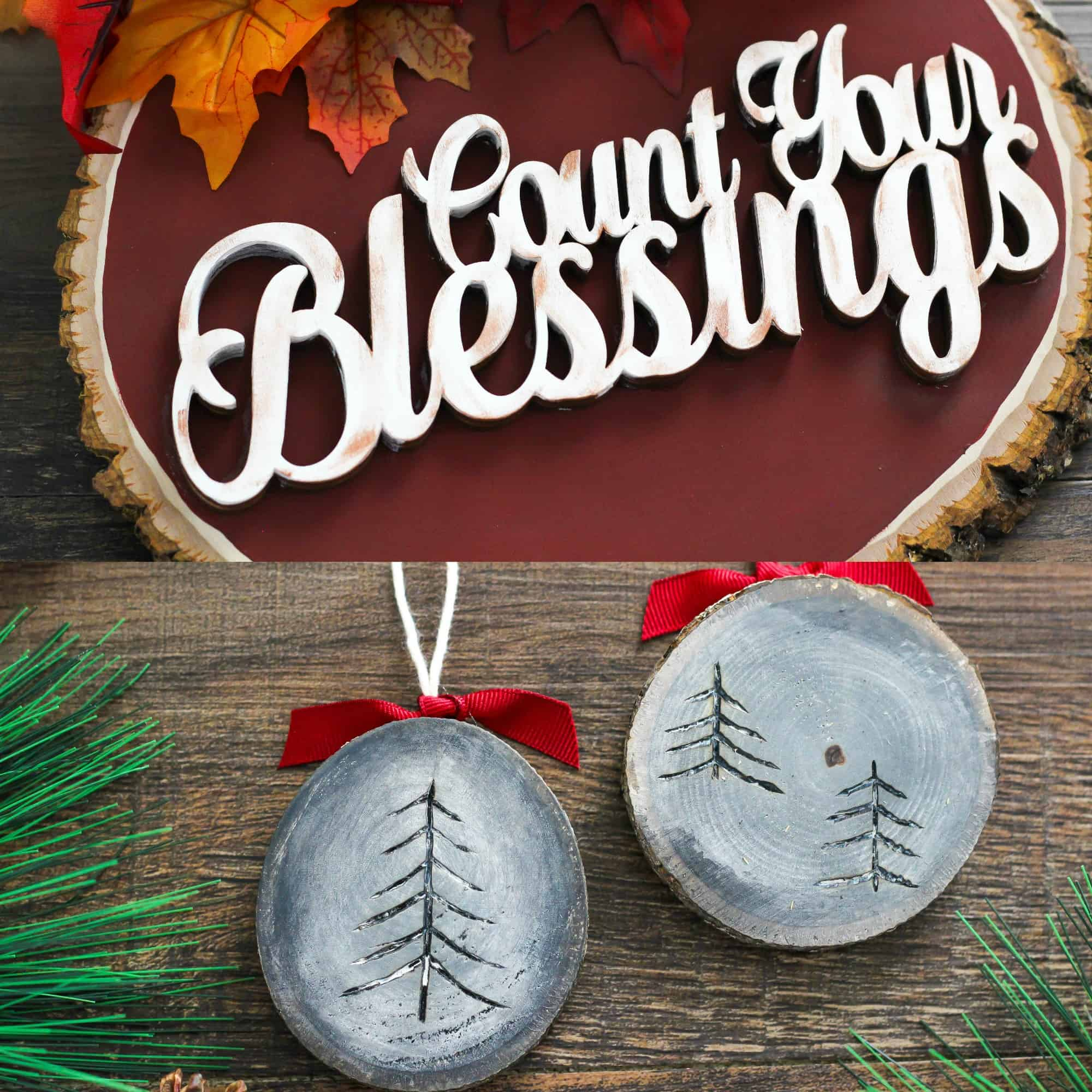 DIY Rustic Wood Holiday Crafts